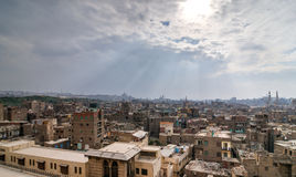 Cairo, Egypt from the Saladin Citadel Stock Image