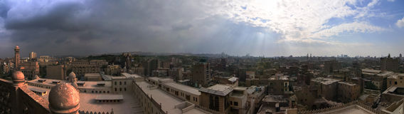 Cairo, Egypt from the Saladin Citadel Royalty Free Stock Photos