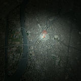 Cairo Egypt, satellite view, Royalty Free Stock Photography