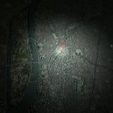 Cairo Egypt, satellite view, Royalty Free Stock Photography