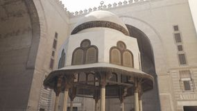 Cairo, Egypt- September, 26, 2016: close shot of a fountain at sultan hassan mosque in cairo stock video