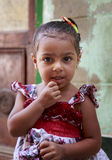 Cairo, Egypt - September 26, 2015:Unidentified Egyptian little girl. Royalty Free Stock Photo