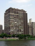 Cairo in egypt: the street and the building Royalty Free Stock Images