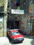 Cairo in egypt: the street and the building Stock Image