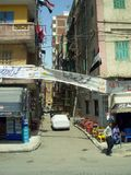 Cairo in egypt: the street and the building Royalty Free Stock Photography