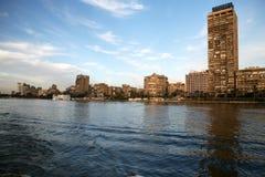 Cairo, fiume storico di Nilo. Immagini Stock Libere da Diritti
