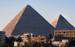 cairo giza pyramider Royaltyfri Foto