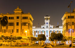 Cairo Governorate building at night Royalty Free Stock Images