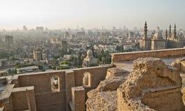 Cairo horisont från citadelen Arkivfoton