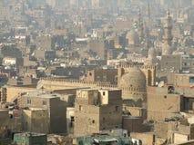 Cairo inklusive moské av Ibn Tulun Arkivfoton