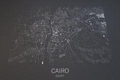Cairo map, Egypt, satellite view Stock Images