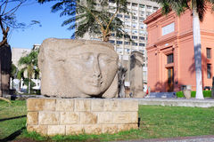Cairo Museum of Egyptology and Antiquities. Exhibits in front of the museum royalty free stock images