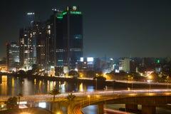 Cairo night traffic Stock Photo