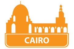Cairo outline Stock Photo