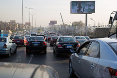 Cairo's morning traffic Royalty Free Stock Photos