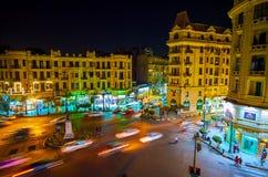 The Cairo`s night urban scene, Egypt Royalty Free Stock Photography