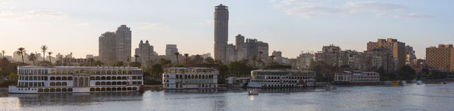 Cairo's Zamalek panoramic Royalty Free Stock Photography