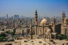 Skyline shot from the Citadel of Saladin, Egypt. Cairo skyline shot from the Citadel of Saladin, Egypt. Shot in the high noon during visit in Cairo stock photography