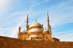 cairo stor moské royaltyfria bilder