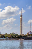 Cairo Tower Sunlit stock images