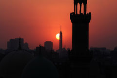 Cairo tower during sunset Stock Image