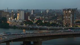 Cairo traffic timelapse stock video footage