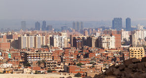 Cairo view from Giza plateau Stock Images