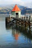 Cais Akaroa Nova Zelândia do molhe foto de stock royalty free