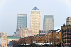 Cais amarelo, Londres, Reino Unido Imagens de Stock