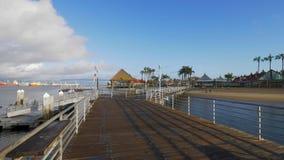 Cais bonito de Coronado na baía de San Diego - Califórnia, EUA - 18 de março de 2019 filme