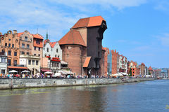 Cais bonito em Gdansk Fotografia de Stock Royalty Free