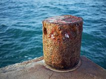Cais com ancoragem Foto de Stock