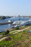 Cais da angra de Utkin em St Petersburg, Rússia Fotografia de Stock Royalty Free