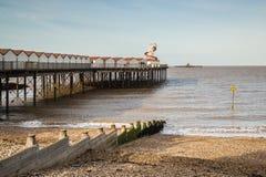 Cais da baía de Herne, Kent, Reino Unido Imagens de Stock Royalty Free