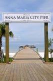 Cais da cidade de Anna Maria Imagem de Stock