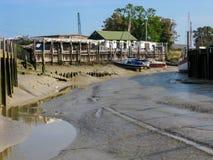 Cais da costa em Rye, Inglaterra, Reino Unido Foto de Stock Royalty Free