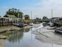 Cais da costa em Rye, Inglaterra, Reino Unido Imagem de Stock