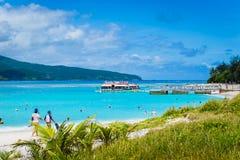 Cais da ilha do mistério, Vanuatu fotos de stock