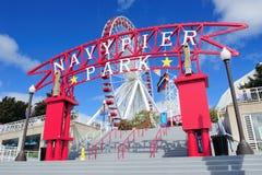 Cais da marinha de Chicago Fotos de Stock