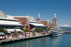 Cais da marinha de Chicago no dia ensolarado Imagens de Stock Royalty Free