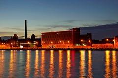 Cais da noite petersburg Imagem de Stock