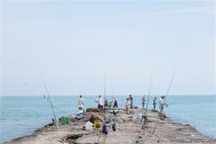 Cais da pesca Fotografia de Stock Royalty Free