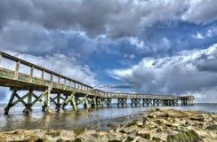 Cais da pesca da baía de Chesapeake foto de stock