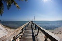 Cais da pesca da vista para o mar Imagem de Stock