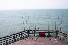 Cais da pesca de North Carolina Fotografia de Stock Royalty Free