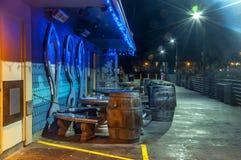Cais da pesca na noite 2 Foto de Stock Royalty Free