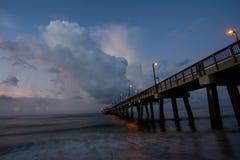 Cais da pesca na praia Imagens de Stock Royalty Free