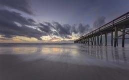 Cais da praia de Fernandina Foto de Stock