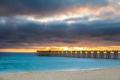 Cais da praia de Hermosa Fotografia de Stock Royalty Free