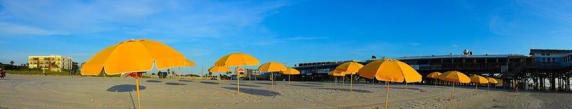 Cais da praia do cacau Fotos de Stock Royalty Free